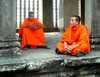 Mnísi v Angkore Kambodža/Kambodza
