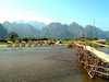 Bambusový most Laos
