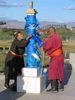 budhisti v Ulanbatare Mongolsko