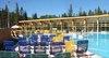 Meander park Oravice - posedenie pri bazéne