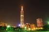 Taipei 101  v noci Taiwan