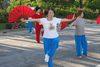 Cvičiace ženy v Taipei Taiwan