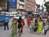 Chaos na ceste v Kathmand Nepál/Nepal